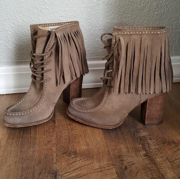 Frye Shoes | Parker Fringe Heeled Boots